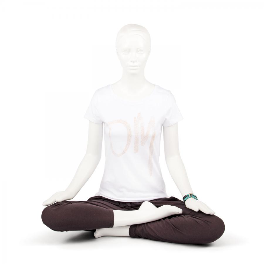 Bodhi Womens T-Shirt -OM, white