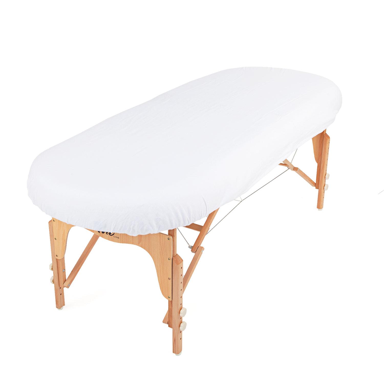 Drap Housse Pour Tables Ovales Blanc