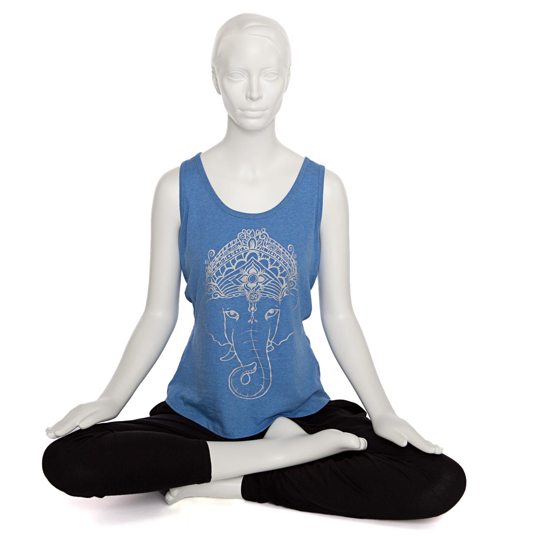bodynova bodhi yoga tank top damen ganesha blue. Black Bedroom Furniture Sets. Home Design Ideas