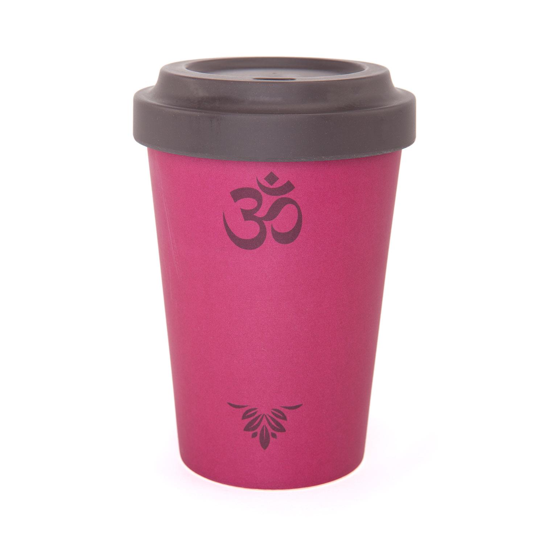Bodynova Bodhi Yogicup 2 Go Bambus Kaffeebecher Om Berry