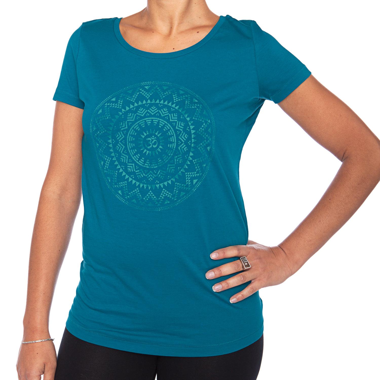 bodynova bodhi yoga shirt damen ethno mandala bio baumwolle petrol yogamatten bodhi hot. Black Bedroom Furniture Sets. Home Design Ideas